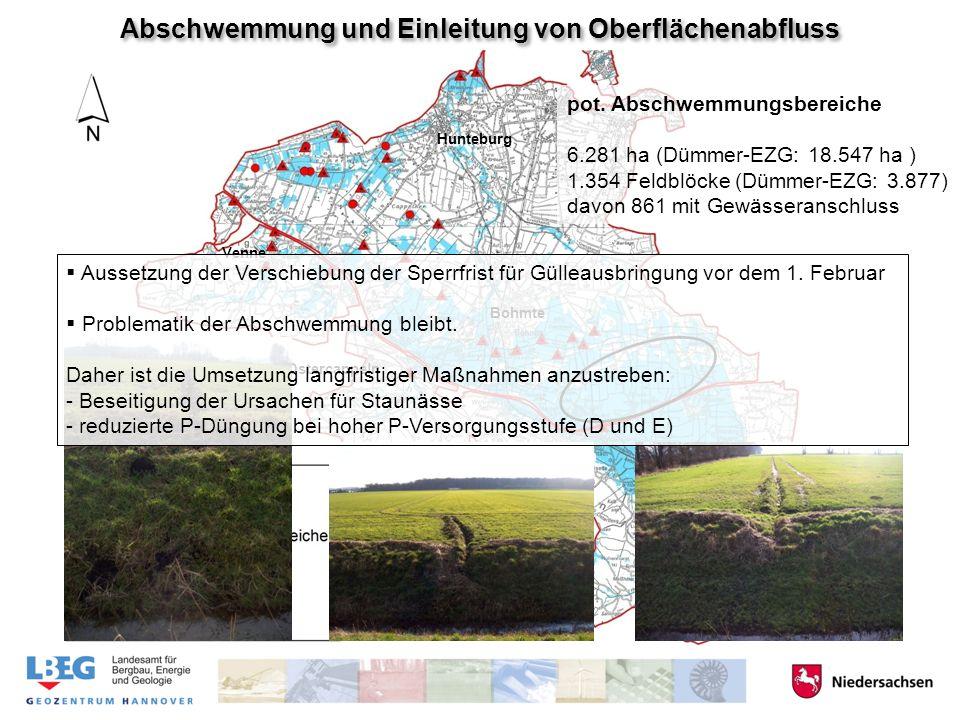 1616 4141 Hunteburg Bohmte Venne Bad Essen Ostercappeln Abschwemmung und Einleitung von Oberflächenabfluss pot.