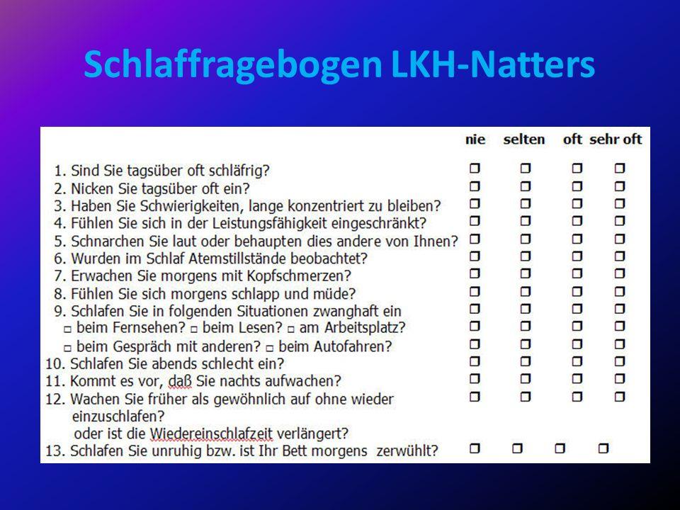 Schlaffragebogen LKH-Natters