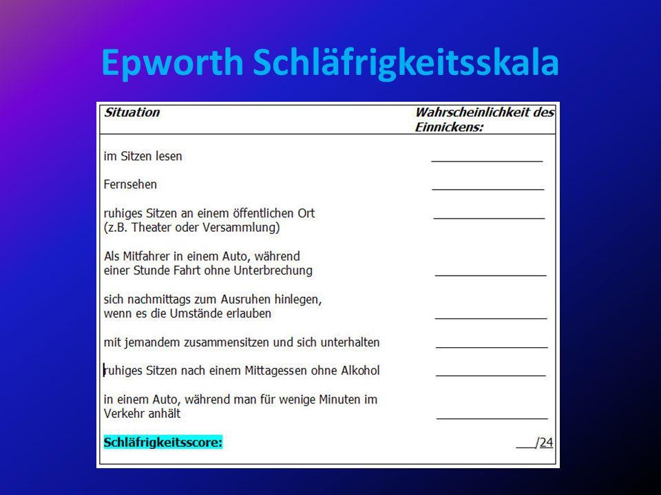 Epworth Schläfrigkeitsskala