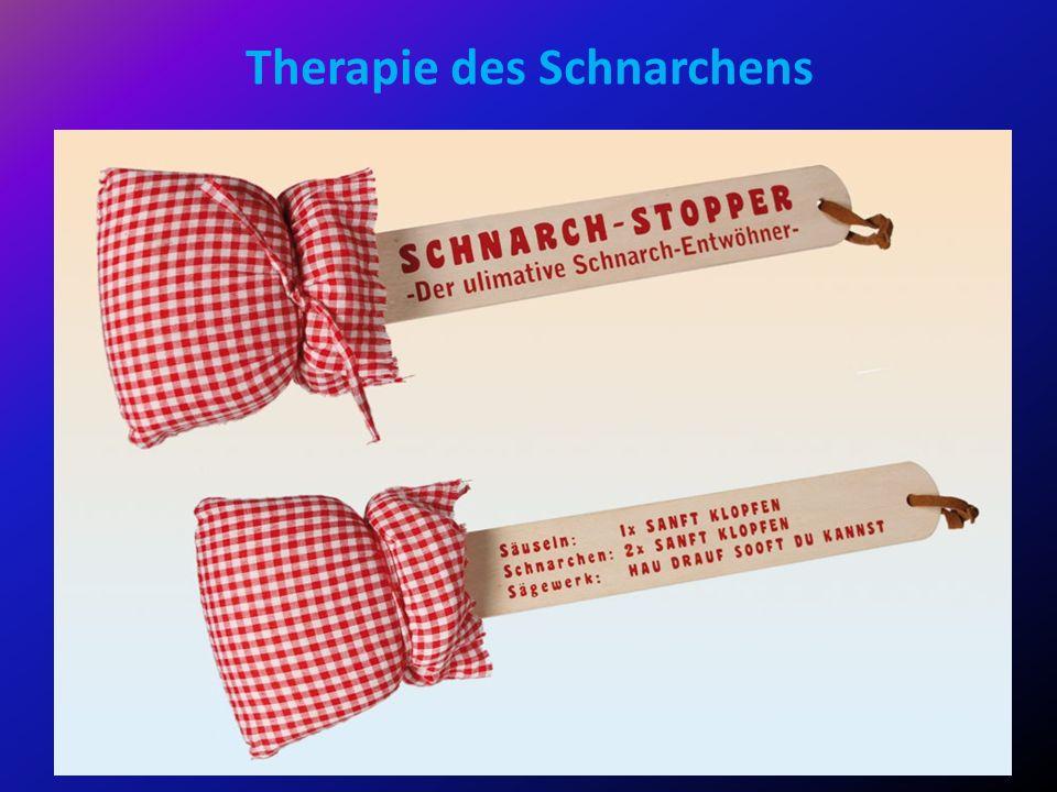 Therapie des Schnarchens