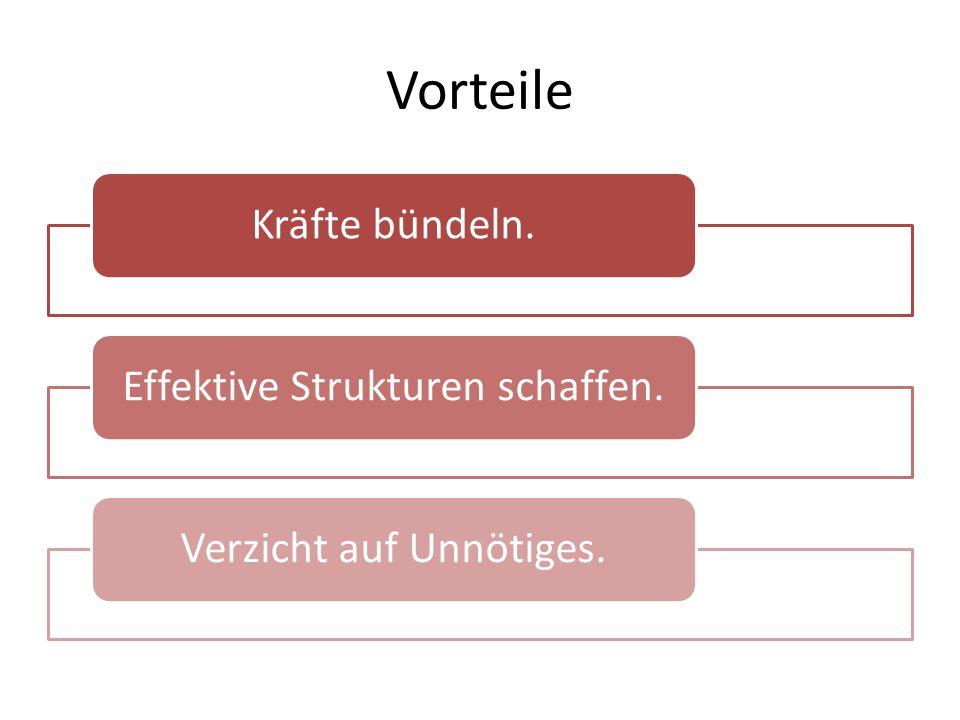 Struktur Ein Vorsitzender, zwei oder drei Stellvertreter mit Aufteilung der Verantwortung für einen bisherigen Kreis Verteilung der Verantwortung nach Chorgattungen innerhalb des Kreises