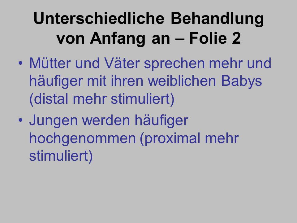 Unterschiedliche Behandlung von Anfang an – Folie 1 Schon vor der Geburt spielt das Geschlecht eine bedeutsame Rolle (Stammhalterphilosophie!) Ergebni