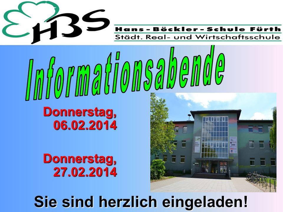 Donnerstag, 06.02.2014 Donnerstag, 27.02.2014 Sie sind herzlich eingeladen!