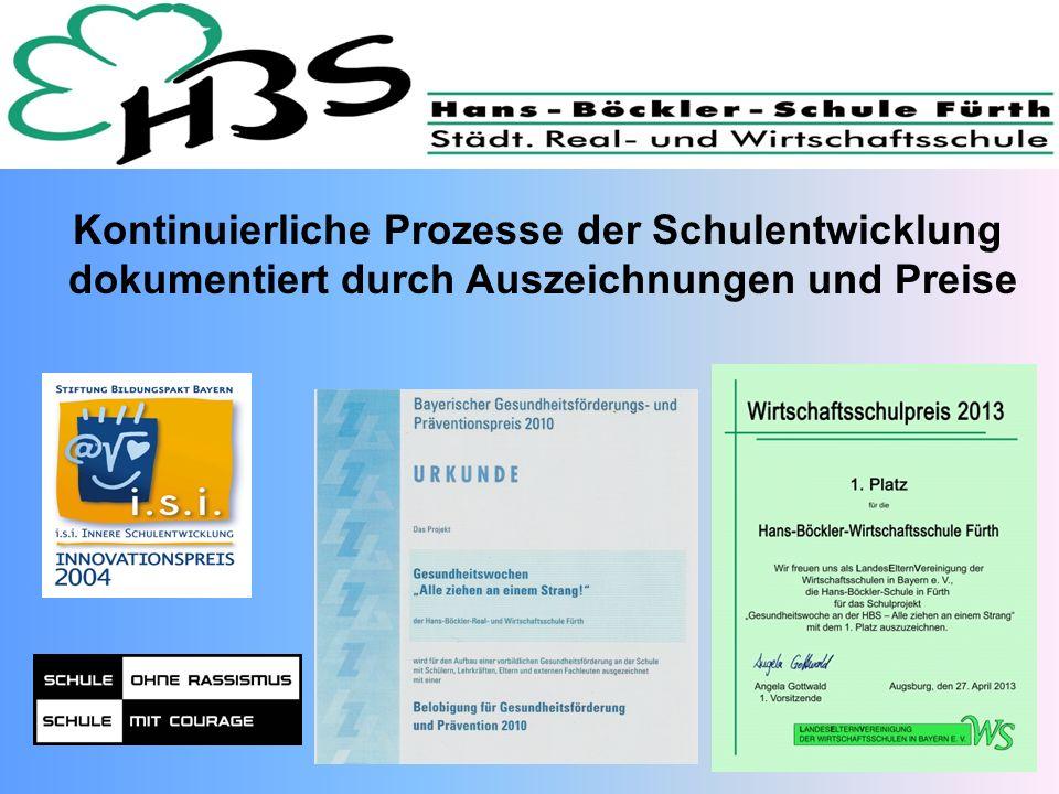 Kontinuierliche Prozesse der Schulentwicklung dokumentiert durch Auszeichnungen und Preise