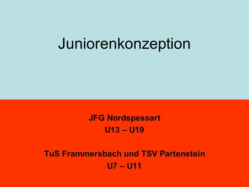 Juniorenkonzeption JFG Nordspessart U13 – U19 TuS Frammersbach und TSV Partenstein U7 – U11
