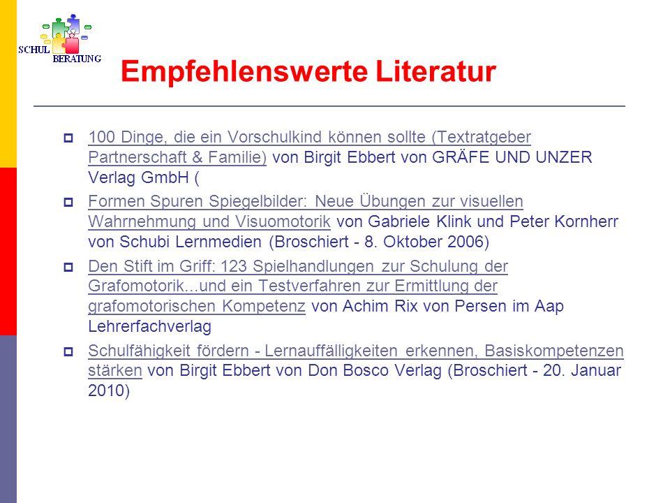 Empfehlenswerte Literatur 100 Dinge, die ein Vorschulkind können sollte (Textratgeber Partnerschaft & Familie) von Birgit Ebbert von GRÄFE UND UNZER V