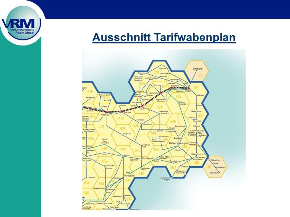 Ausschnitt Tarifwabenplan