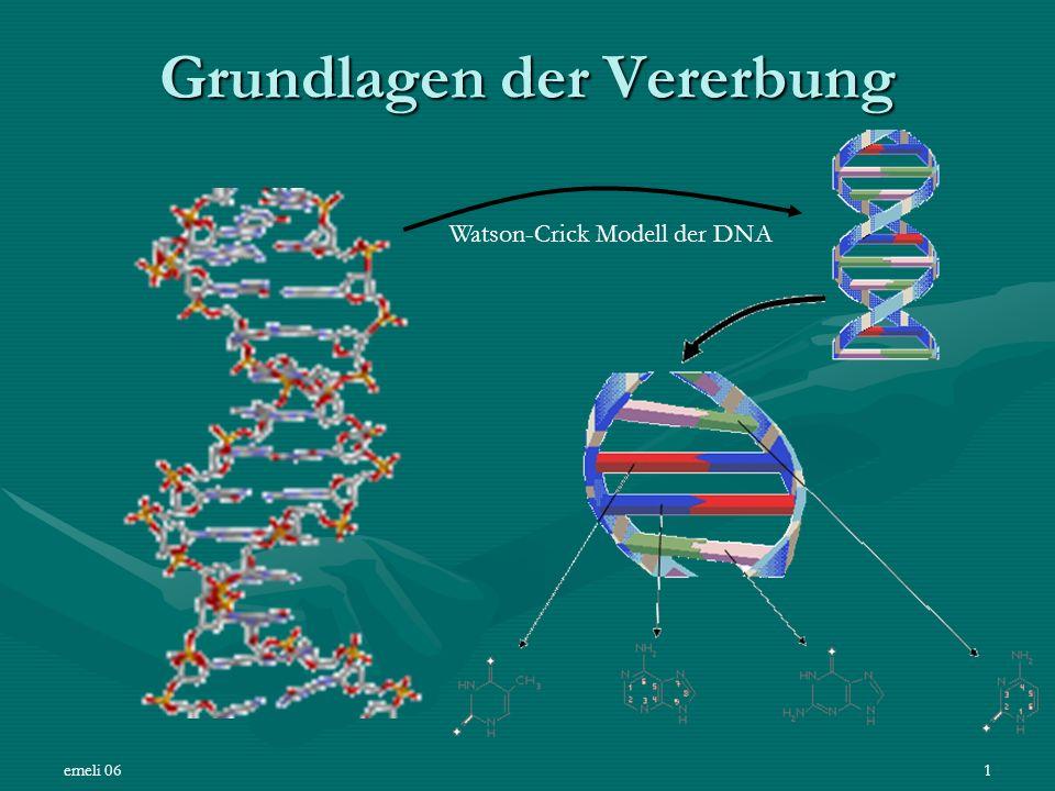 emeli 061 Grundlagen der Vererbung Watson-Crick Modell der DNA