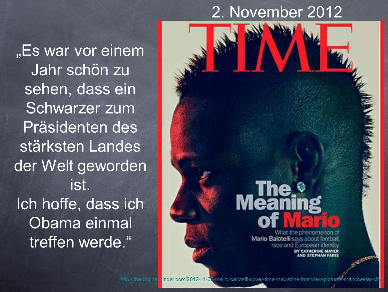 2. November 2012 Es war vor einem Jahr schön zu sehen, dass ein Schwarzer zum Präsidenten des stärksten Landes der Welt geworden ist. Ich hoffe, dass