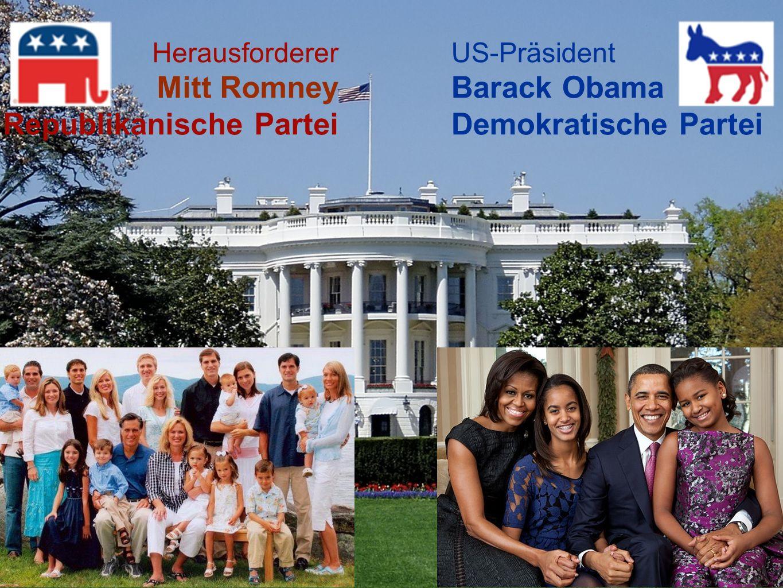 US-Präsident Barack Obama Demokratische Partei Herausforderer Mitt Romney Republikanische Partei