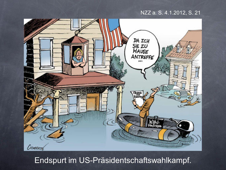 NZZ a. S. 4.1.2012, S. 21 Endspurt im US-Präsidentschaftswahlkampf.
