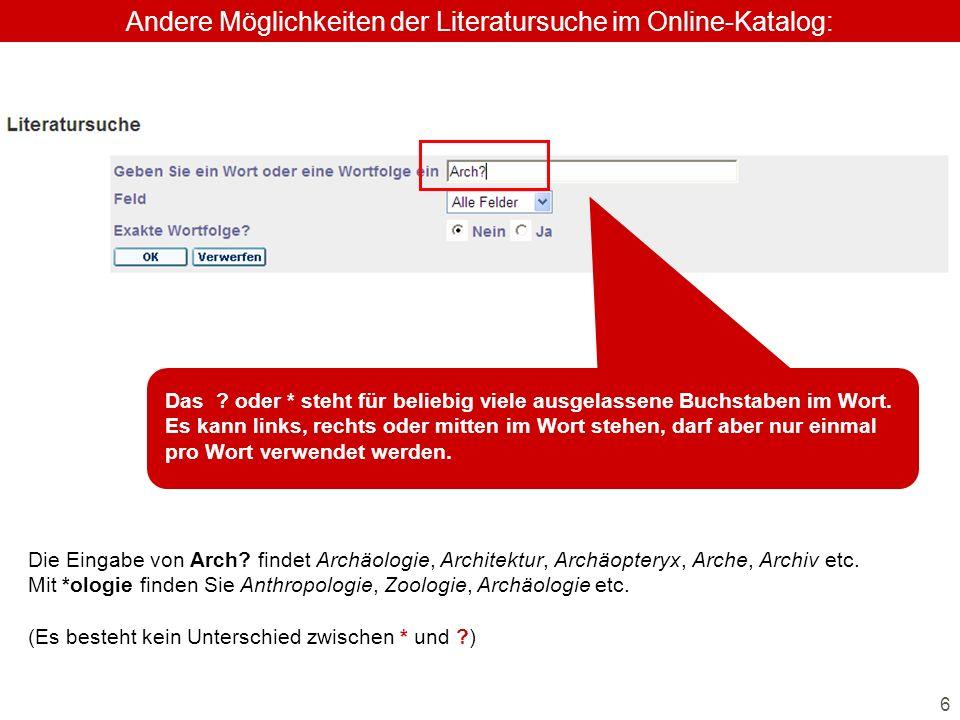 6 Die Eingabe von Arch. findet Archäologie, Architektur, Archäopteryx, Arche, Archiv etc.