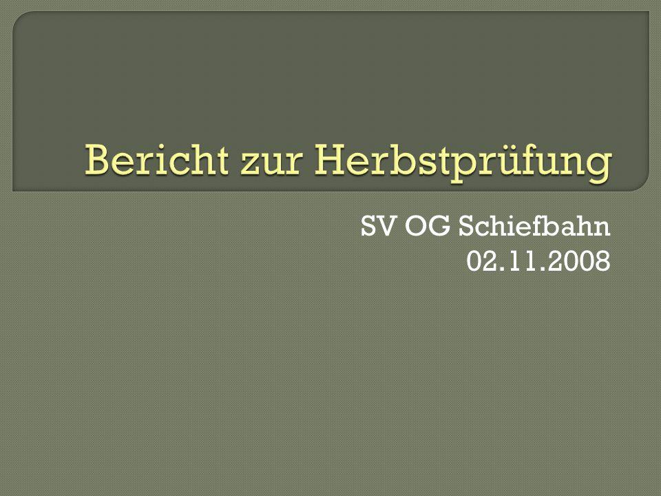 SV OG Schiefbahn 02.11.2008