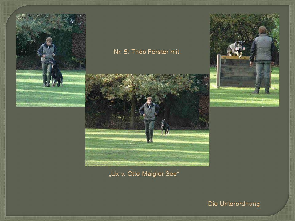 Nr. 5: Theo Förster mit Ux v. Otto Maigler See Die Unterordnung