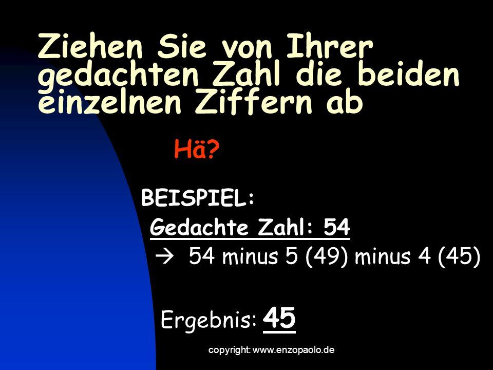 copyright: www.enzopaolo.de Und jetzt wird es schwierig.