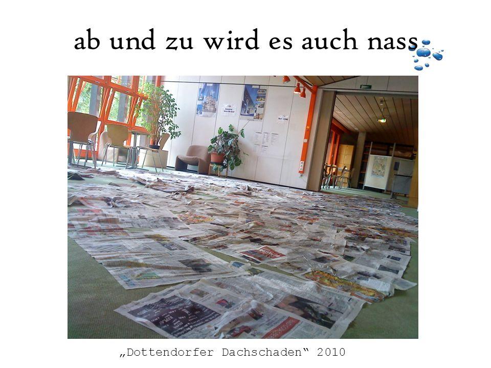 ab und zu wird es auch nass Dottendorfer Dachschaden 2010