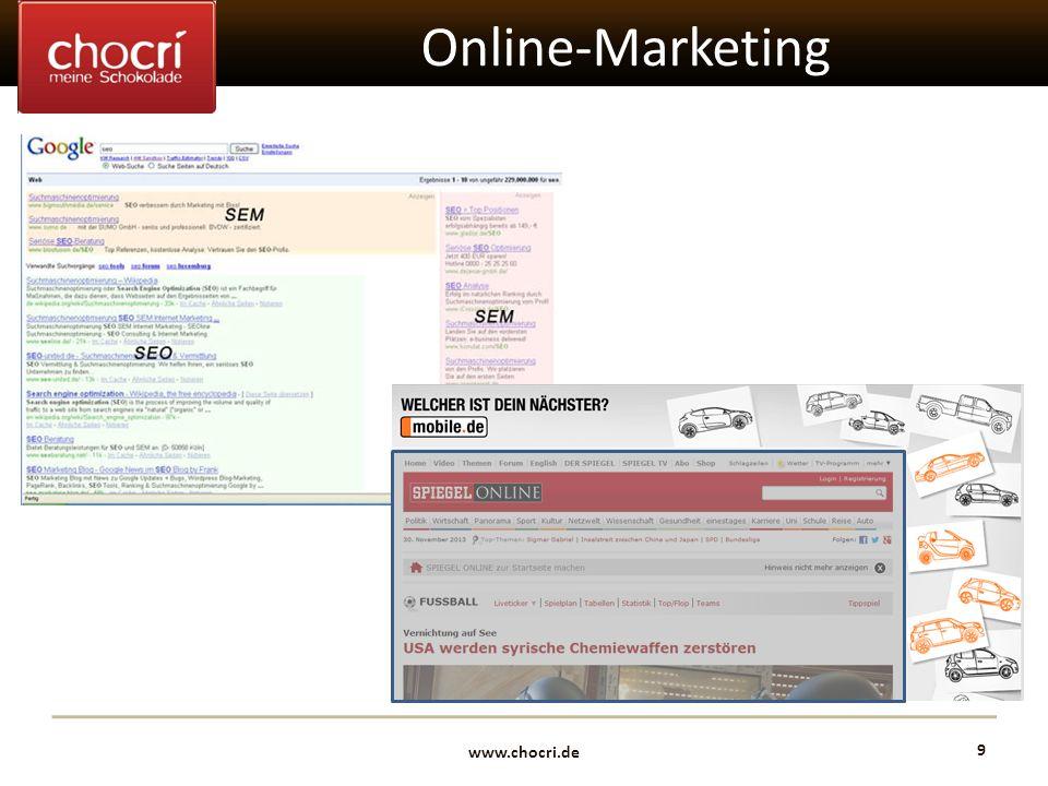 www.chocri.de 9 Online-Marketing