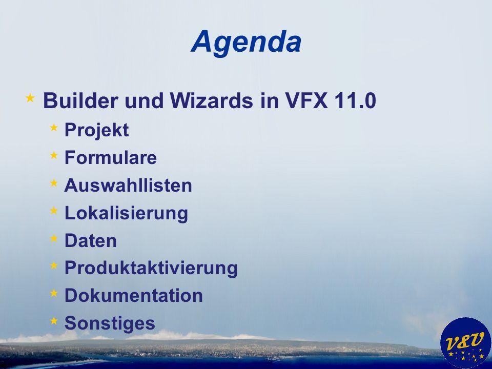VFX – Installation Wizard * Vorbereitung einer Kundeninstallation * Exe Datei * VFX.fll * VFP Laufzeitumgebung * Datenbank * ActiveX Steuerelemente