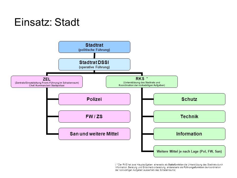 Einsatz: Regionalgemeinde Gemeinderat (gesamt) (politische Führung) Gemeindepräsident oder zuständiger Gemeinderat resp.