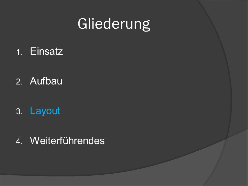 Folieninhalte 2. Aufbau Stichworte stützen Vortrag Grafiken und Bilder visualisieren Audiobeispiele machen hörbar Video- sequenzen zeigen