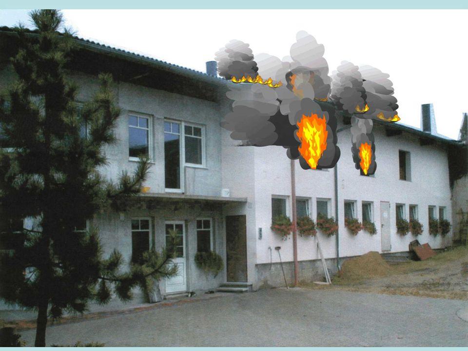 Sie haben folgende Lage festgestellt: Brand des Dachstuhles, bzw.
