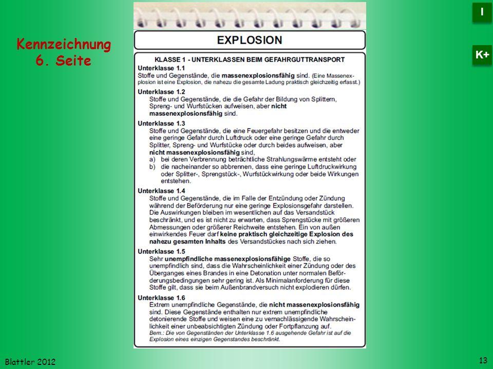 Blattler 2012 13 Kennzeichnung 6. Seite I I K+
