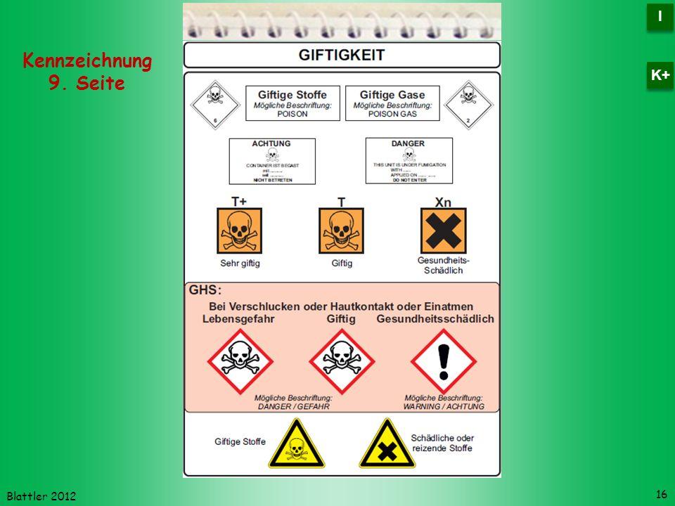 Blattler 2012 16 Kennzeichnung 9. Seite I I K+