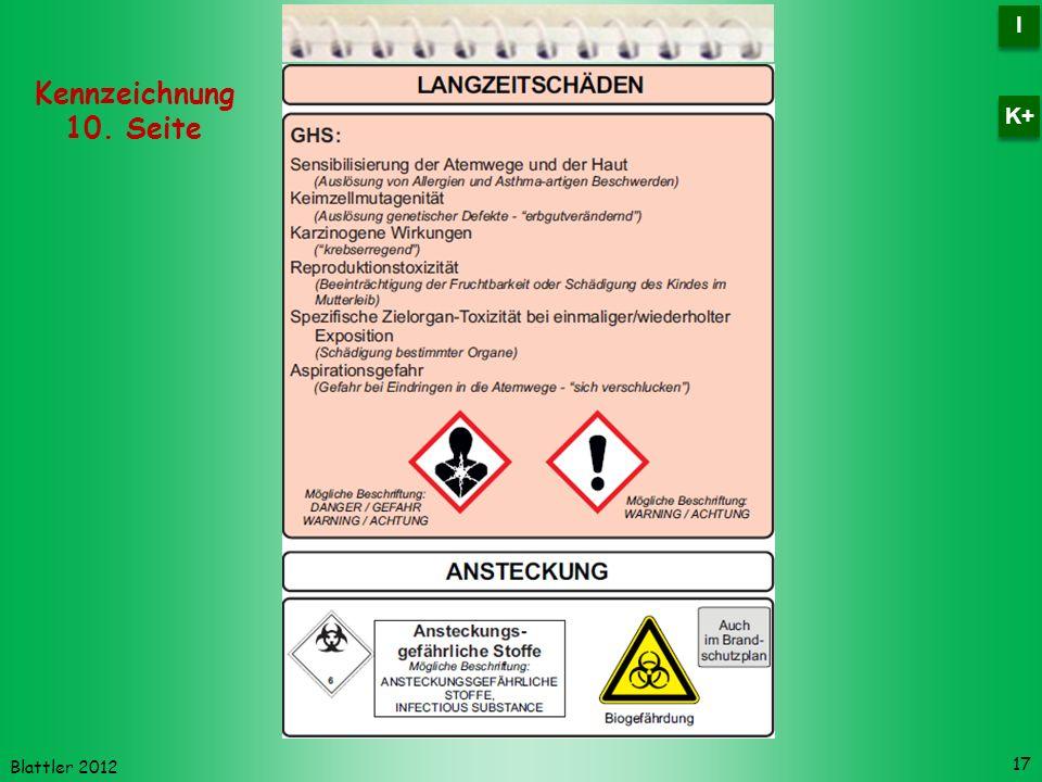 Blattler 2012 17 Kennzeichnung 10. Seite I I K+