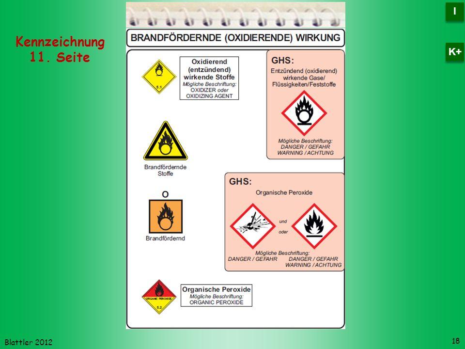 Blattler 2012 18 Kennzeichnung 11. Seite I I K+