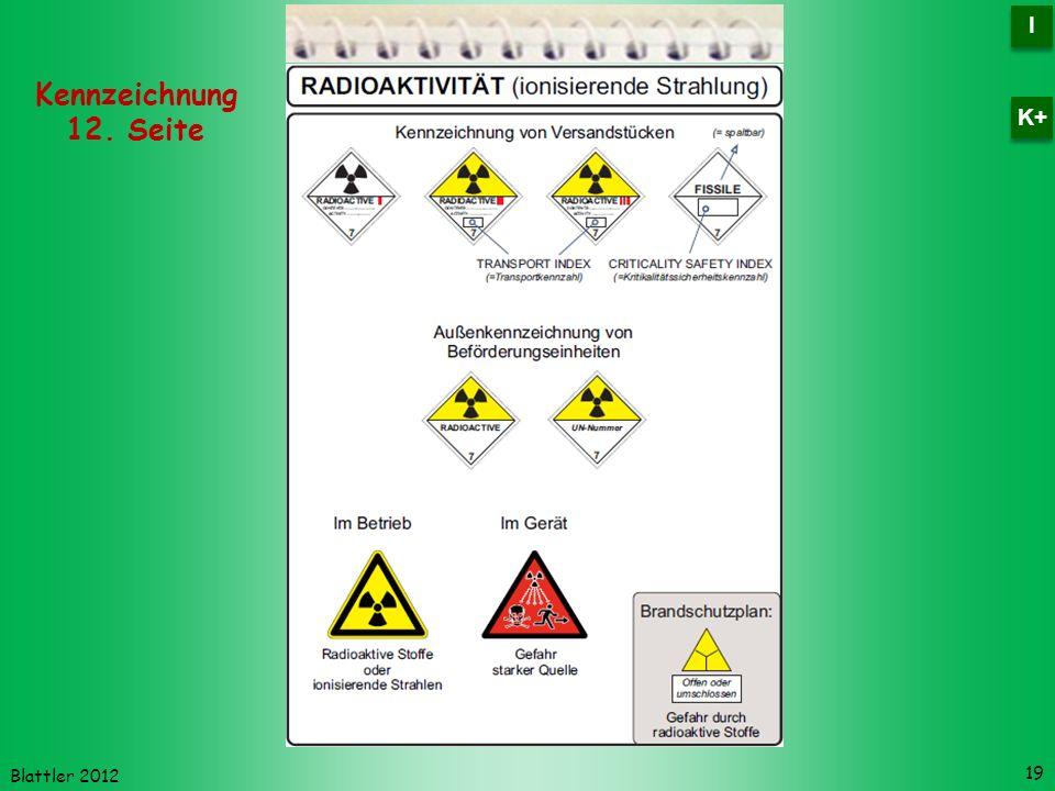Blattler 2012 19 Kennzeichnung 12. Seite I I K+