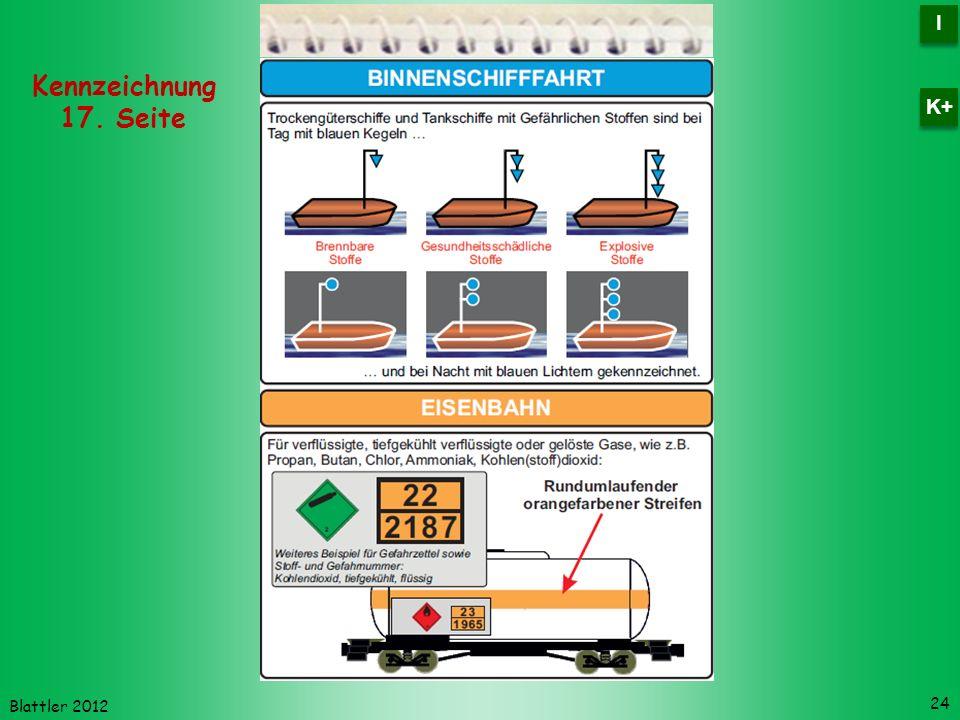 Blattler 2012 24 Kennzeichnung 17. Seite I I K+