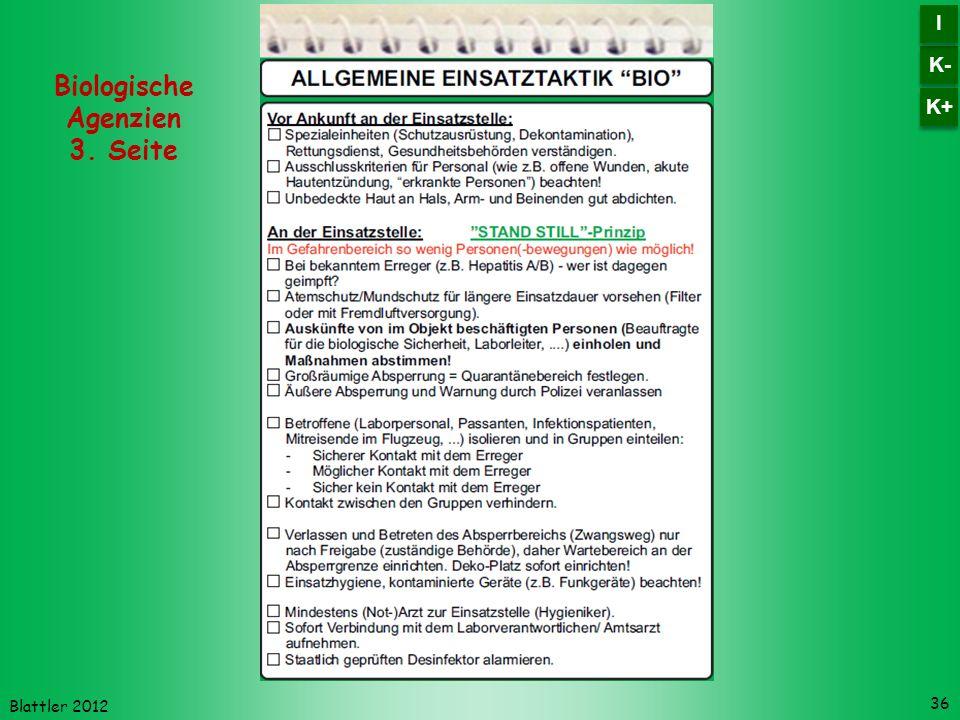 Blattler 2012 36 Biologische Agenzien 3. Seite K- I I K+