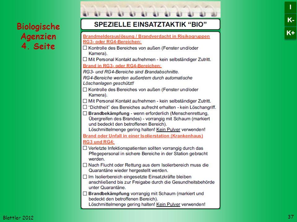 Blattler 2012 37 Biologische Agenzien 4. Seite K- I I K+