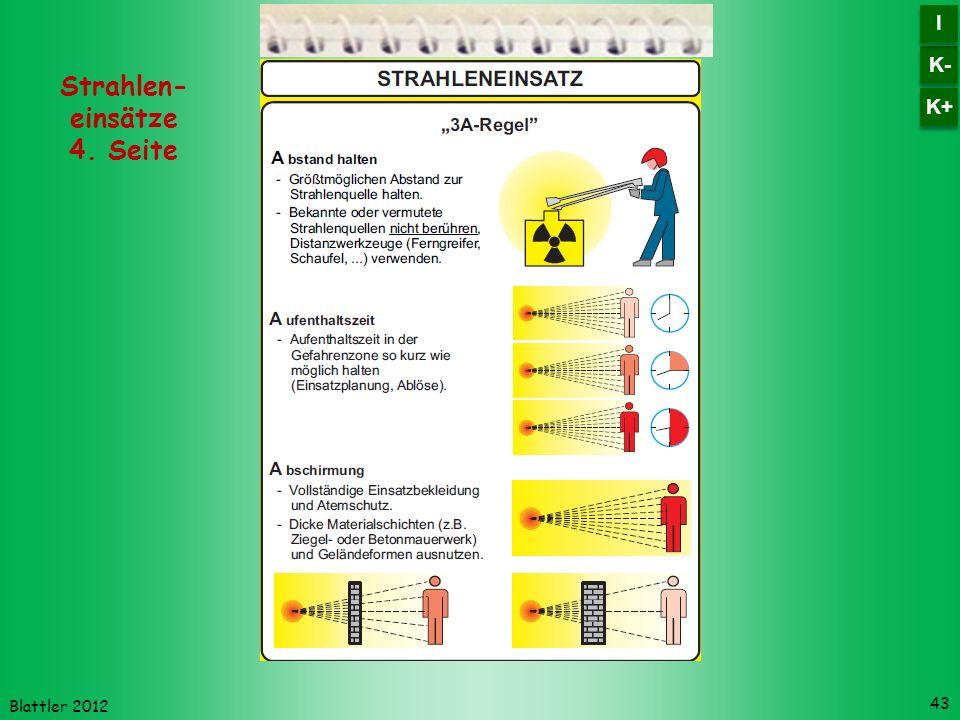 Blattler 2012 43 Strahlen- einsätze 4. Seite K- I I K+