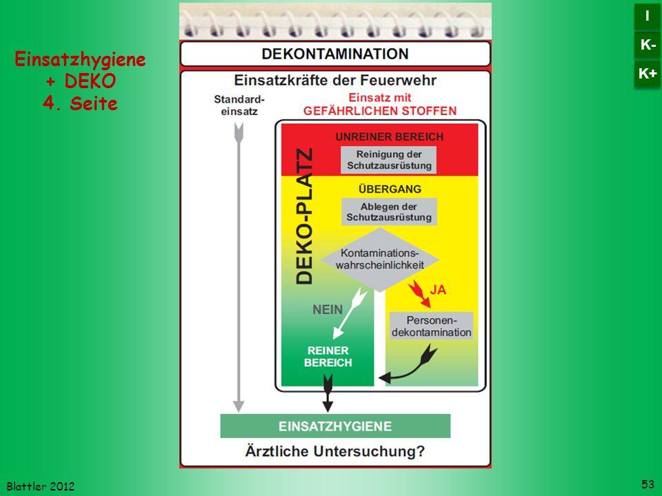 Blattler 2012 53 Einsatzhygiene + DEKO 4. Seite K- I I K+