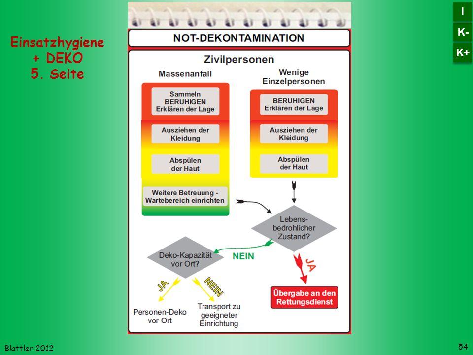 Blattler 2012 54 Einsatzhygiene + DEKO 5. Seite K- I I K+