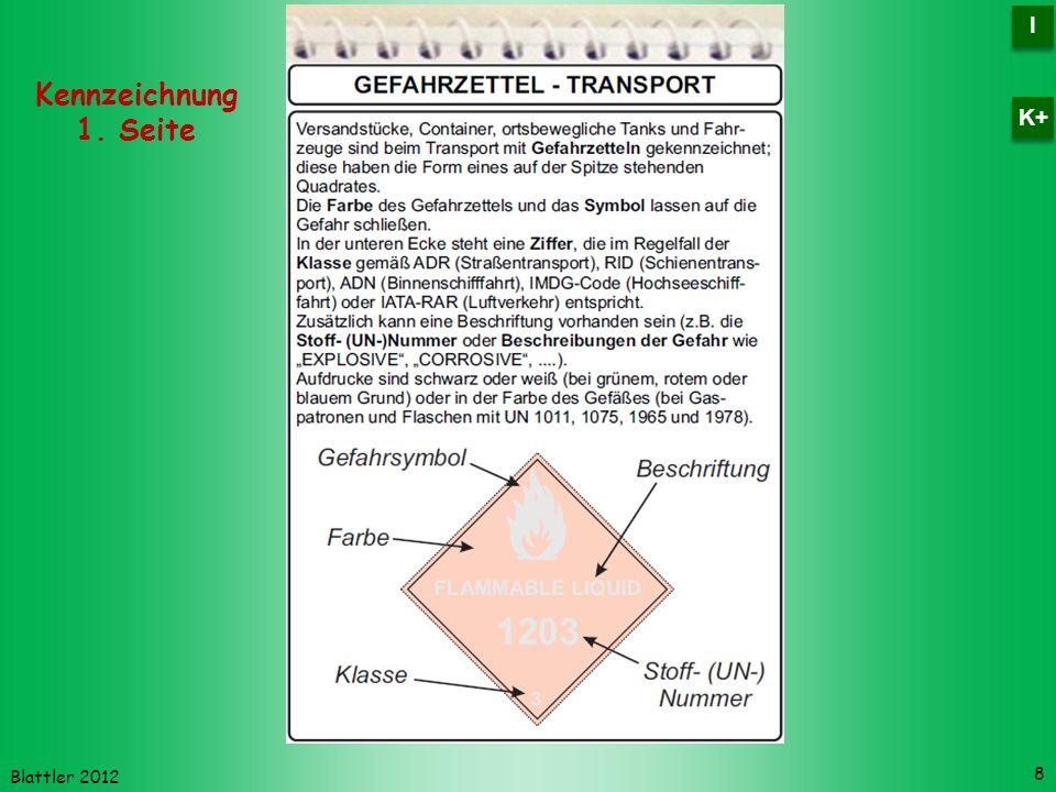 Blattler 2012 Kennzeichnung 1. Seite 8 I I K+