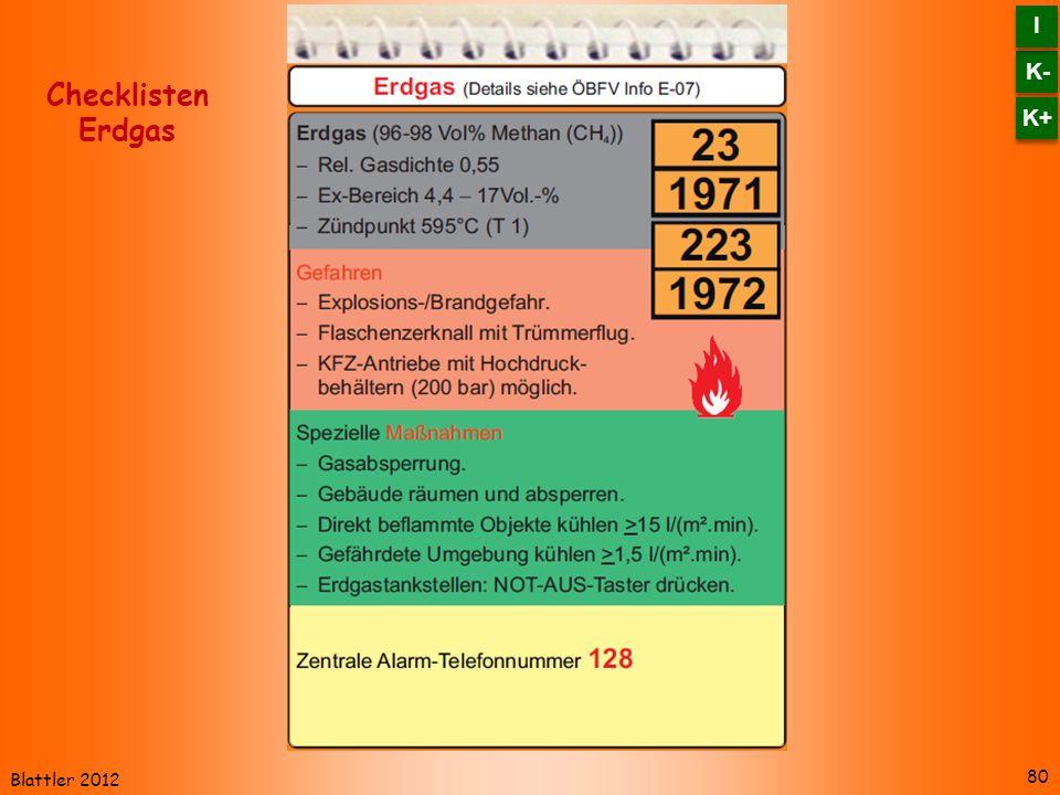 Blattler 2012 80 Checklisten Erdgas K- I I K+