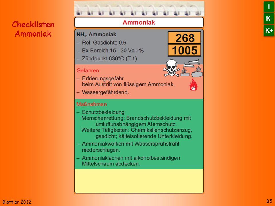 Blattler 2012 85 Checklisten Ammoniak K- I I K+