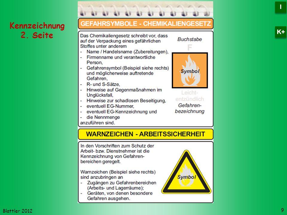 Blattler 2012 Kennzeichnung 2. Seite 9 I I K+