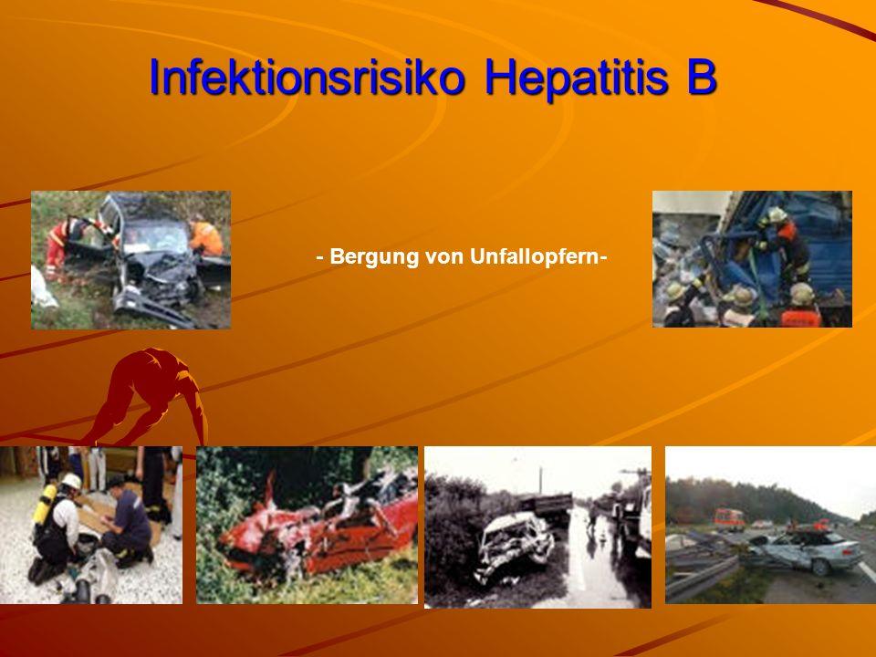 Infektionsrisiko Hepatitis B - Bergung von Unfallopfern-