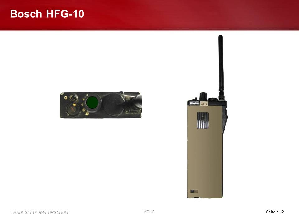 Seite 12 LANDESFEUERWEHRSCHULE VFUG Bosch HFG-10