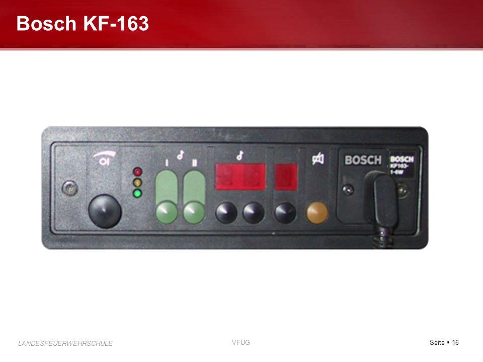 Seite 16 LANDESFEUERWEHRSCHULE VFUG Bosch KF-163