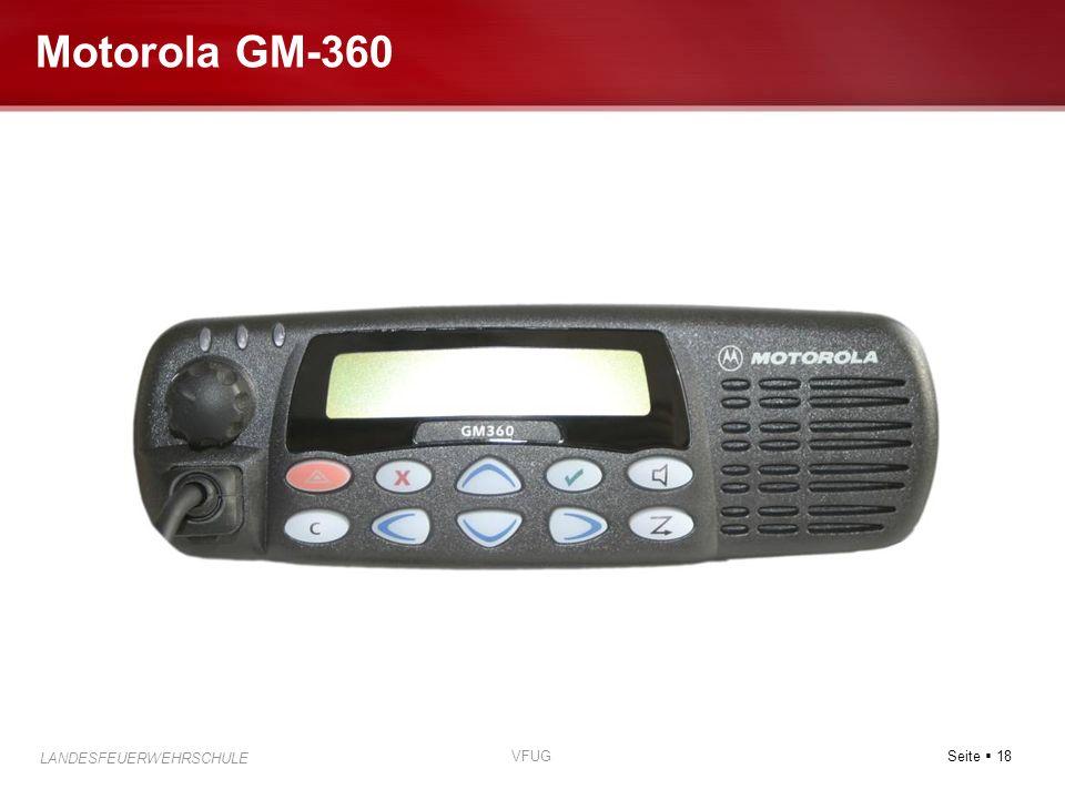 Seite 18 LANDESFEUERWEHRSCHULE VFUG Motorola GM-360