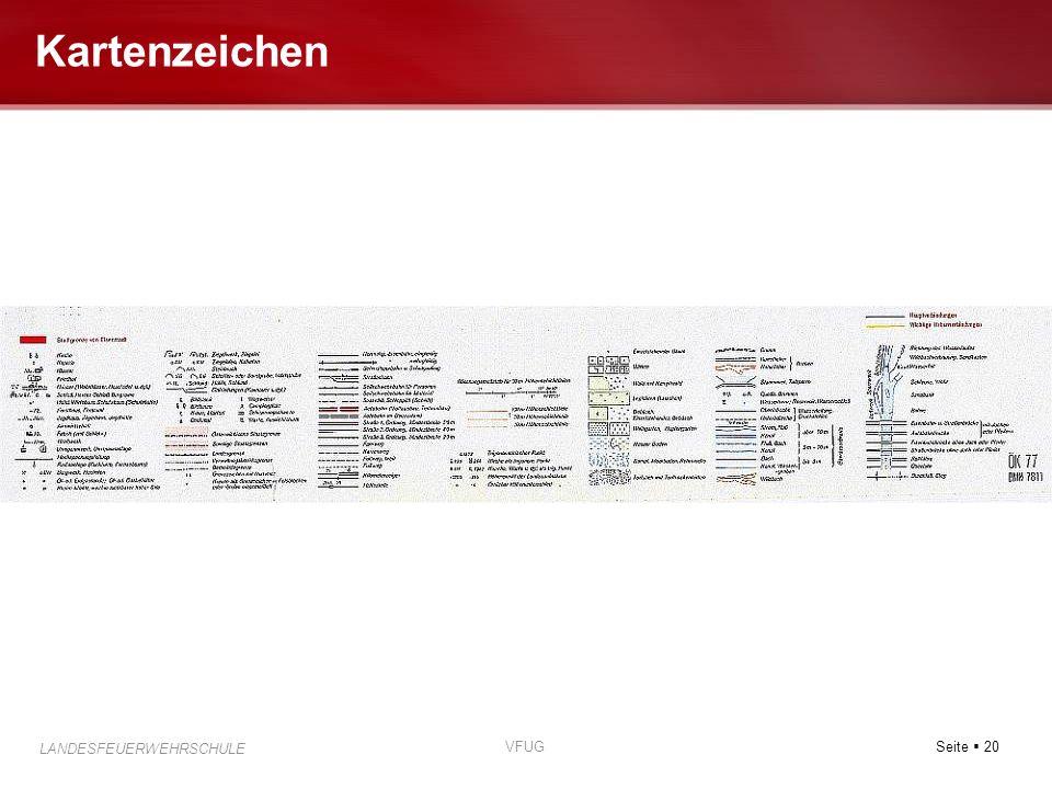 Seite 20 LANDESFEUERWEHRSCHULE VFUG Kartenzeichen