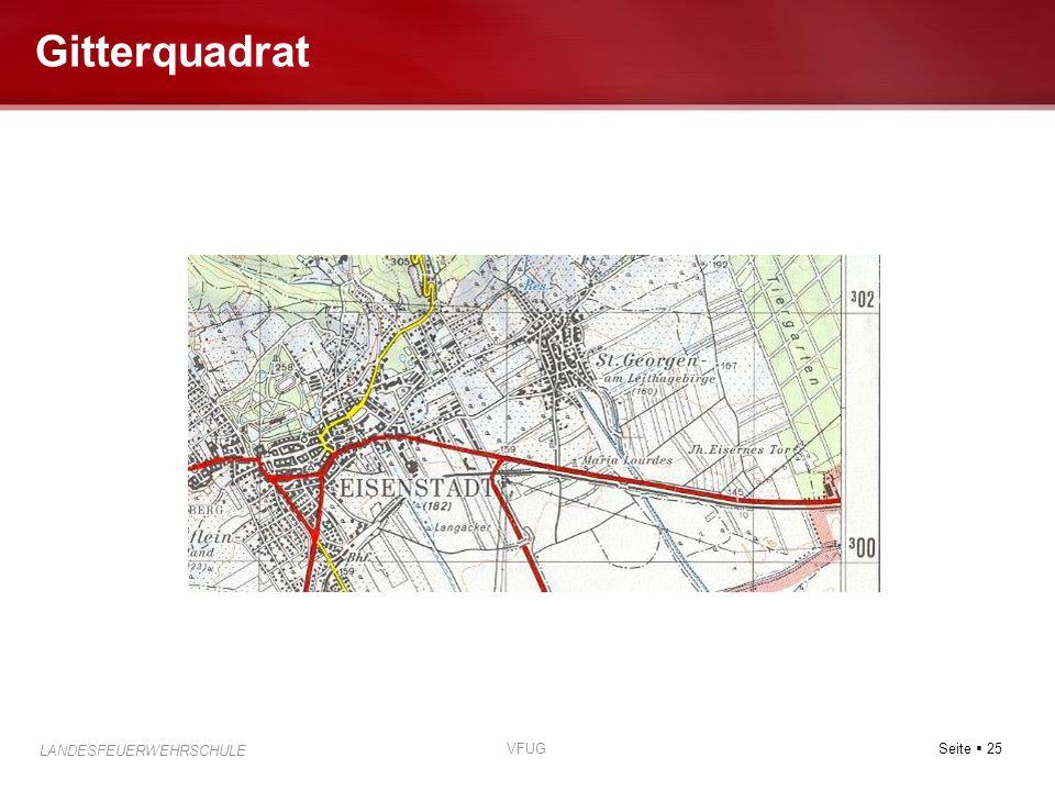 Seite 25 LANDESFEUERWEHRSCHULE VFUG Gitterquadrat