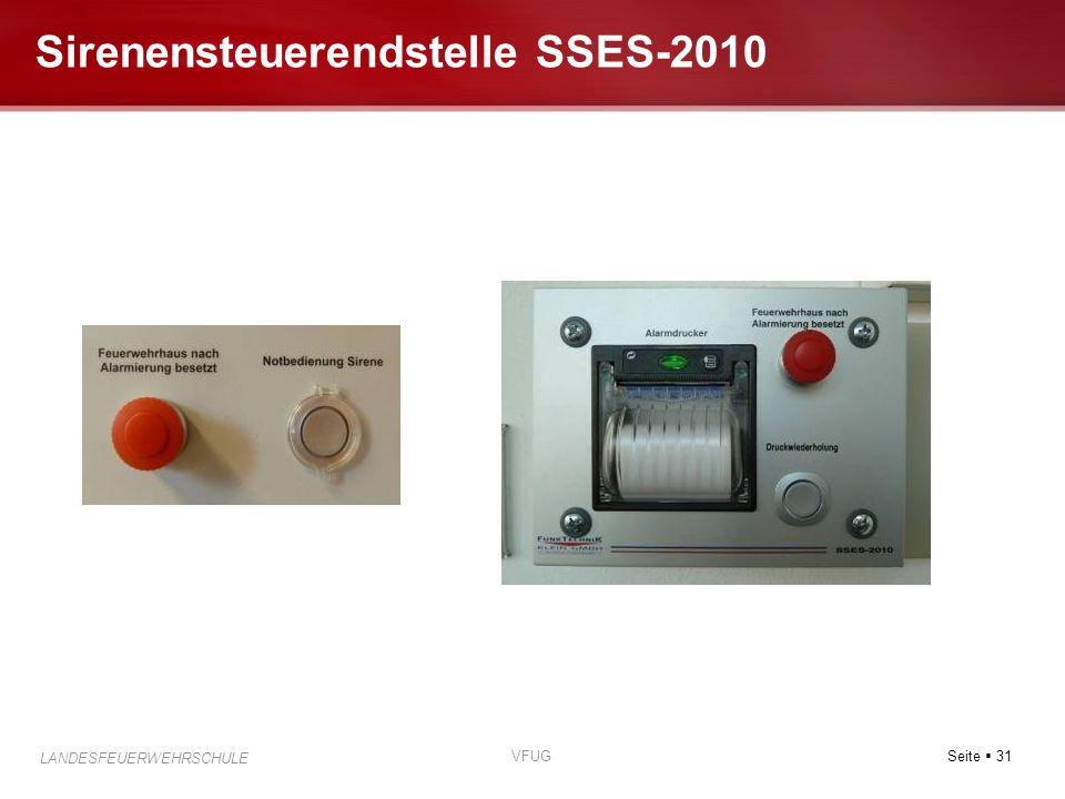 Seite 31 LANDESFEUERWEHRSCHULE VFUG Sirenensteuerendstelle SSES-2010