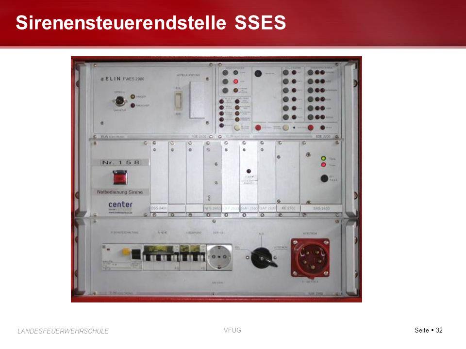 Seite 32 LANDESFEUERWEHRSCHULE VFUG Sirenensteuerendstelle SSES