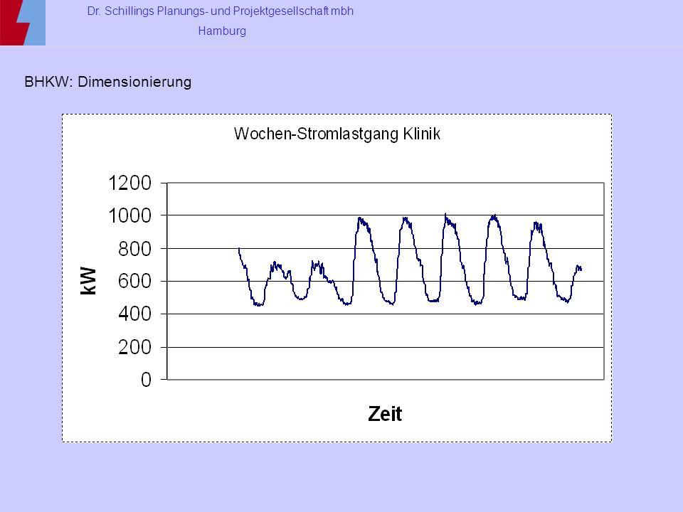 Dr. Schillings Planungs- und Projektgesellschaft mbh Hamburg BHKW: Dimensionierung