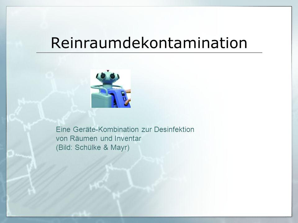 Reinraumdekontamination Eine Geräte-Kombination zur Desinfektion von Räumen und Inventar (Bild: Schülke & Mayr)